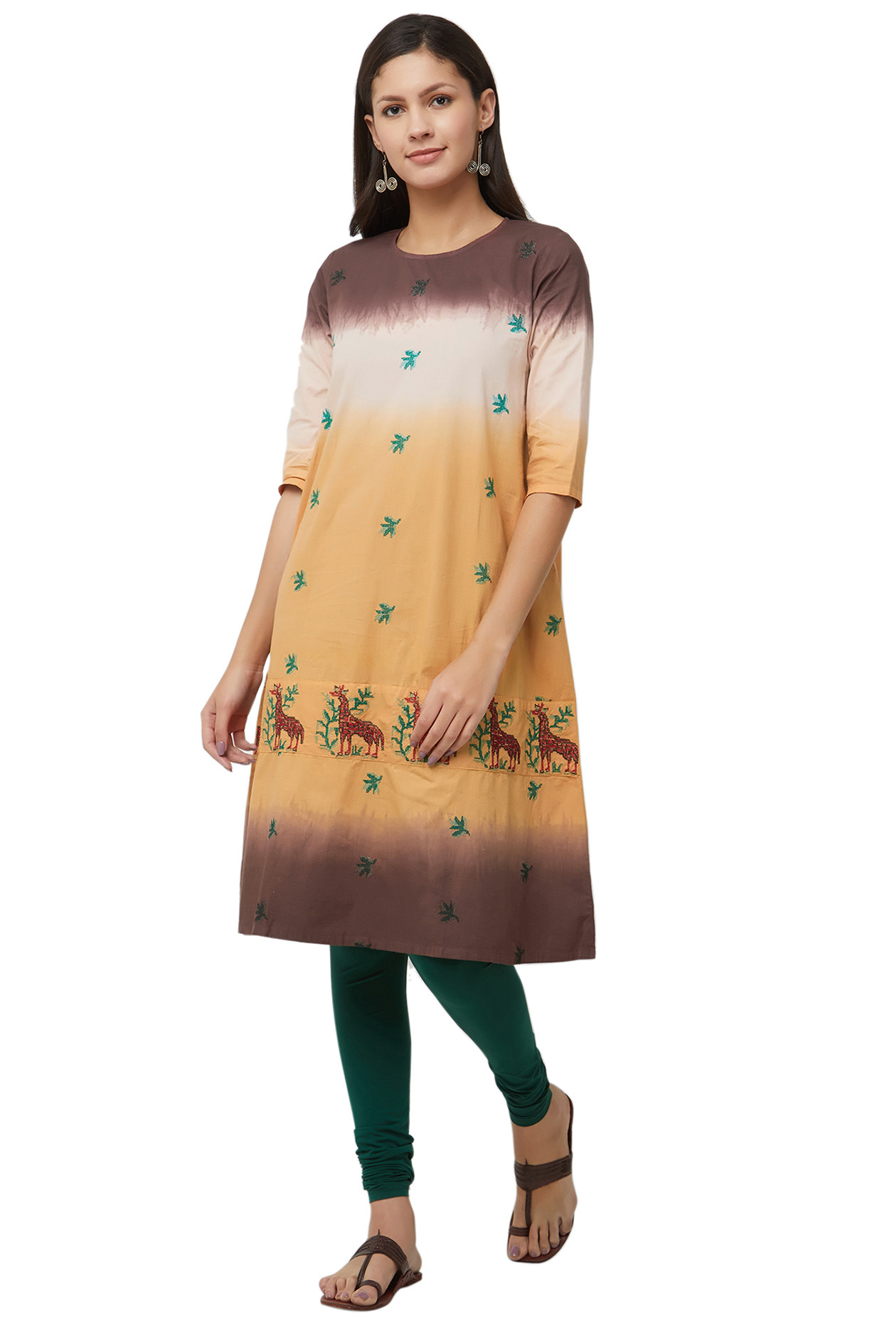 Multicolored Pure Cotton Tie Dyed Kurta  by House Of Idar