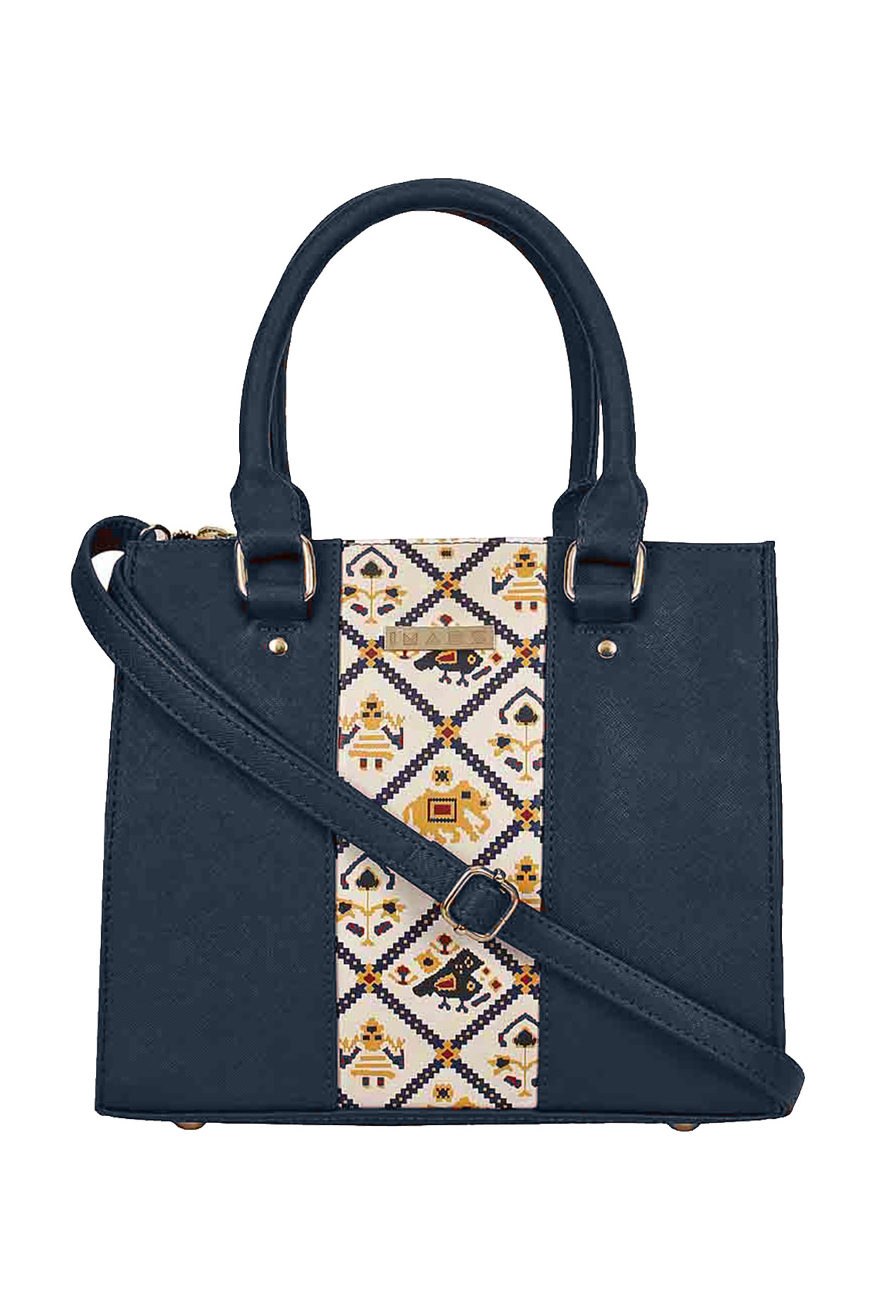 Blue Satchel With Adjustable Strap by Imars