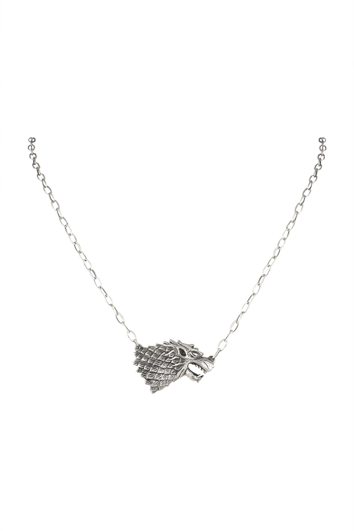Silver Finish Rise Of The Lone Wolf Chain Necklace by Masaba Jewellery