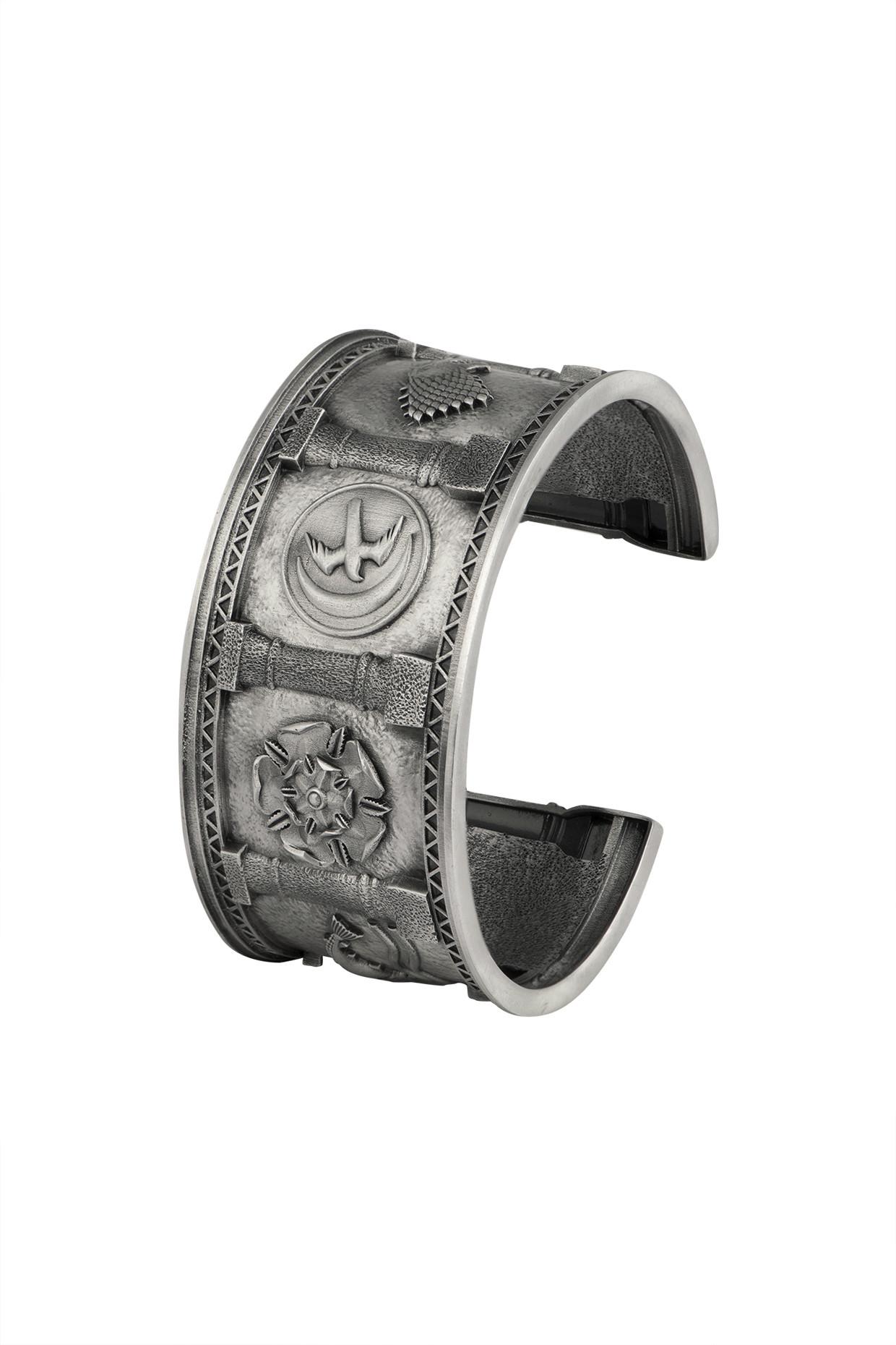 Silver Finish Sigil Storm Cuff by Masaba Jewellery