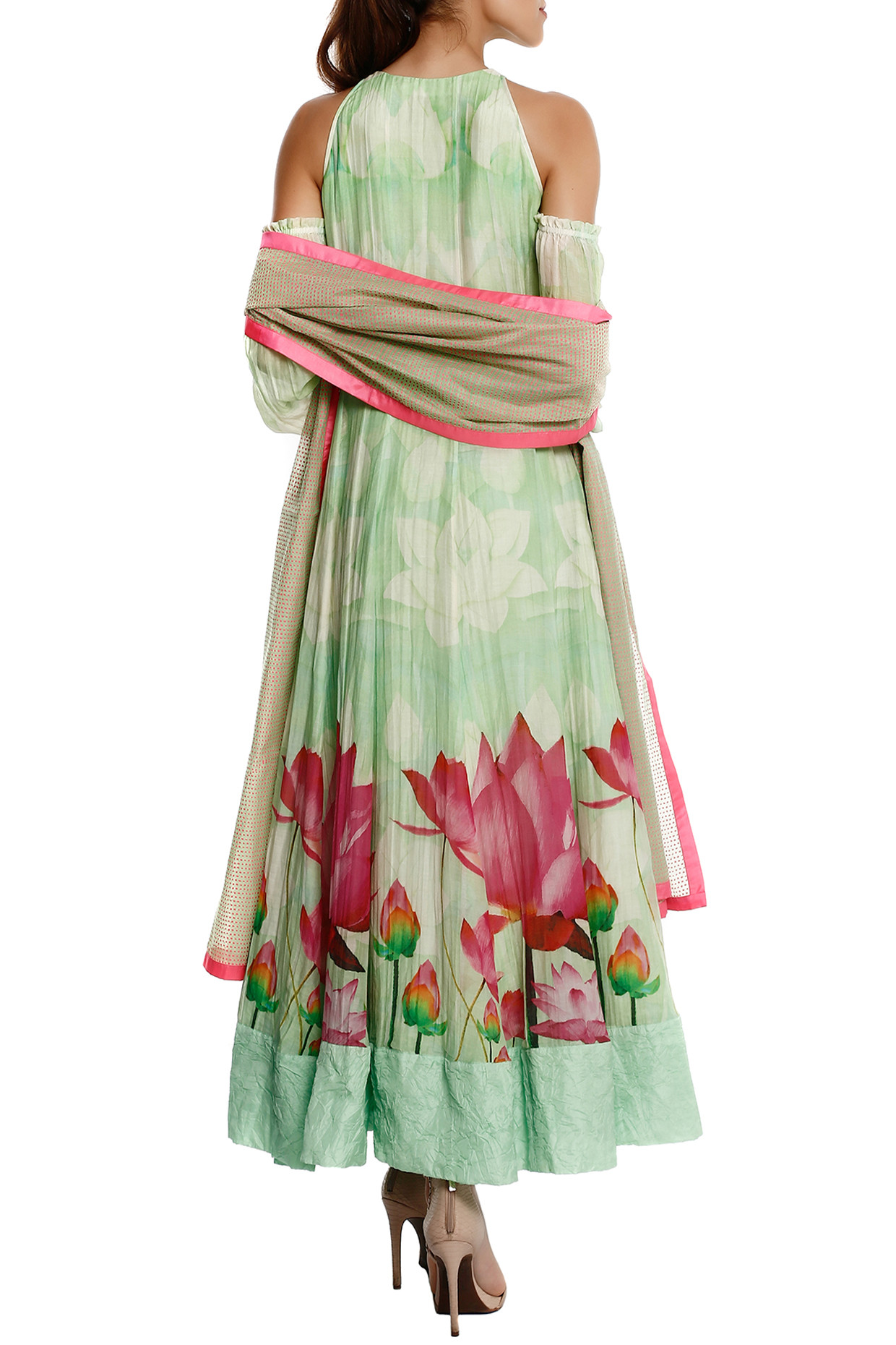 Mint Green Anarkali Set by Masaba