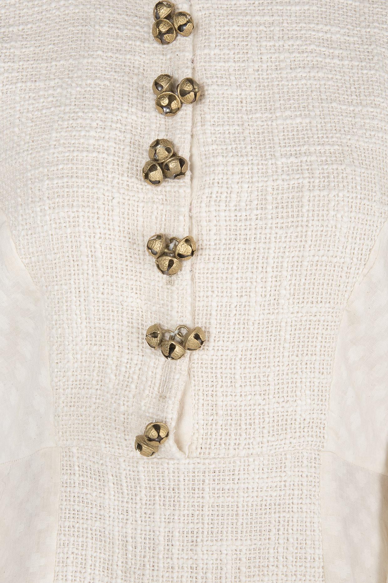 Ivory Panelled Tunic by Rishi & Vibhuti