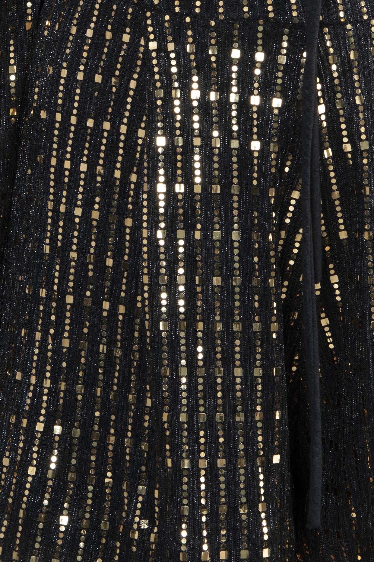 Black Metallic Cutout Playsuit by RS by Rippi Sethi