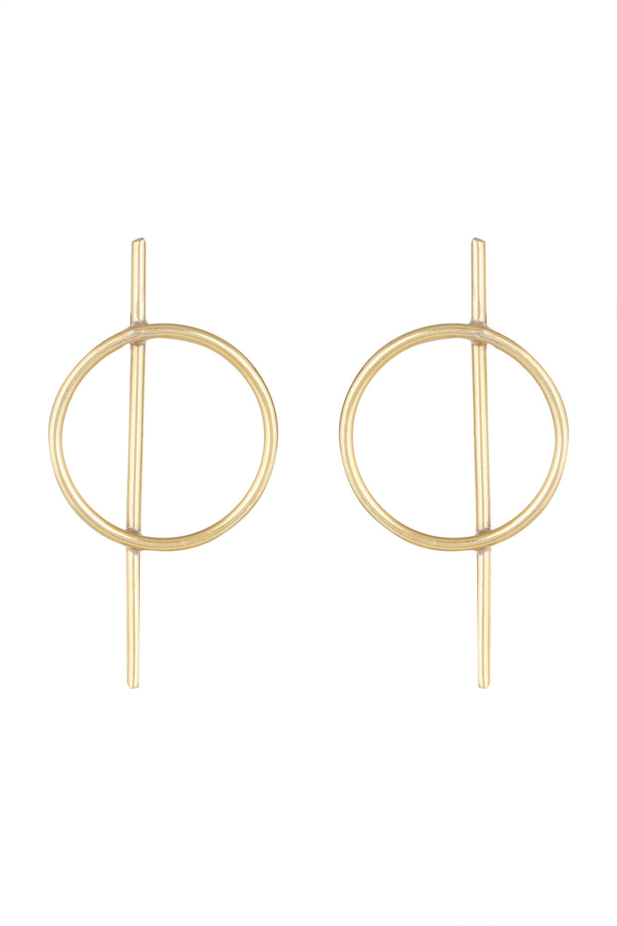 Gold Plated Geometric Regular Wear Earrings by Soraya