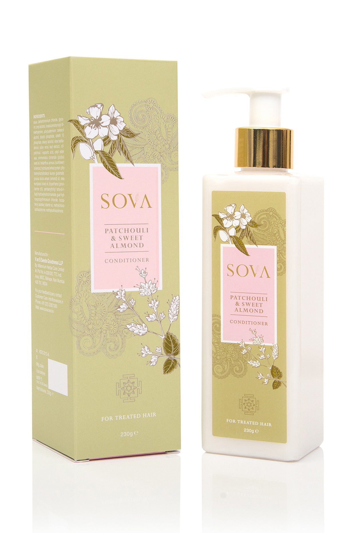 Sweet Almond & Patchouli Conditioner For Treated Hair by SOVA