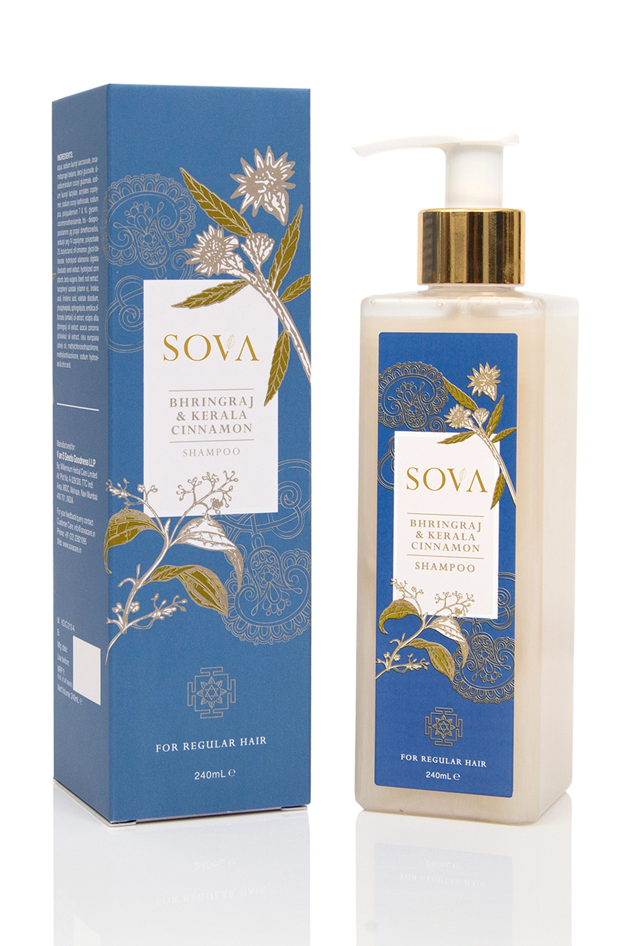 Kerela Cinnamon & Bhringraj Shampoo For Regular Hair by SOVA