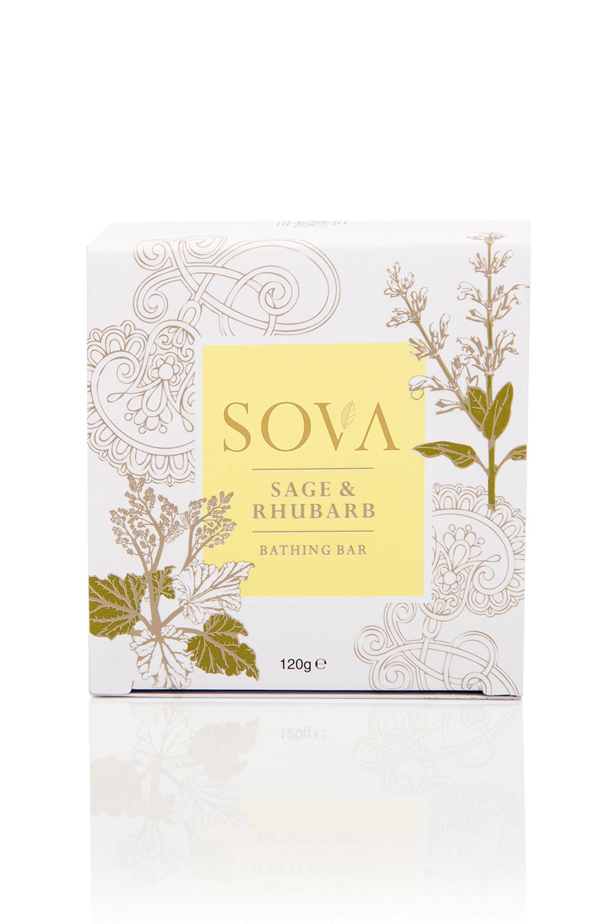 Rhubarb & Sage Bathing Bar For All by SOVA