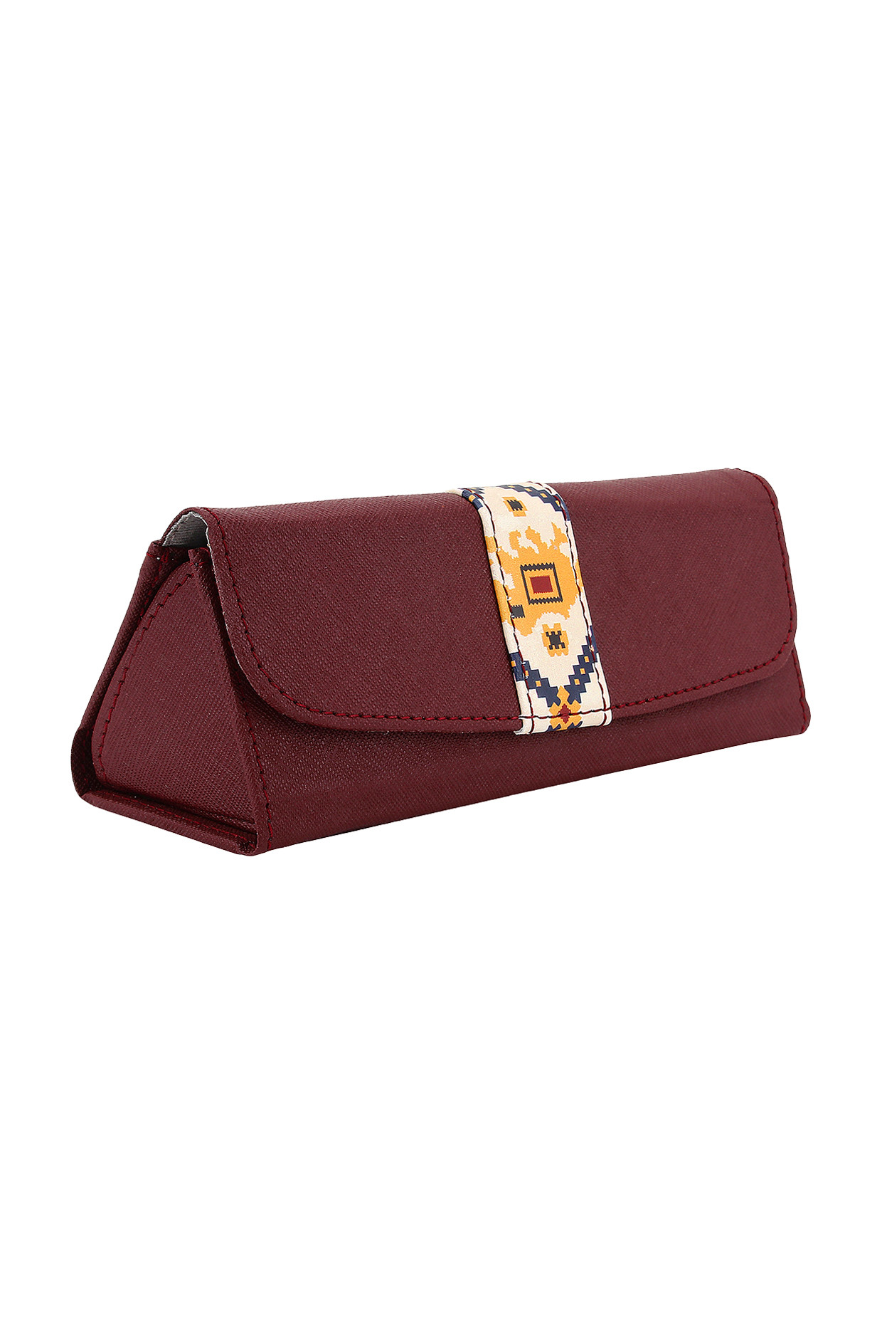 Maroon Printed Spectacle Case by Imars