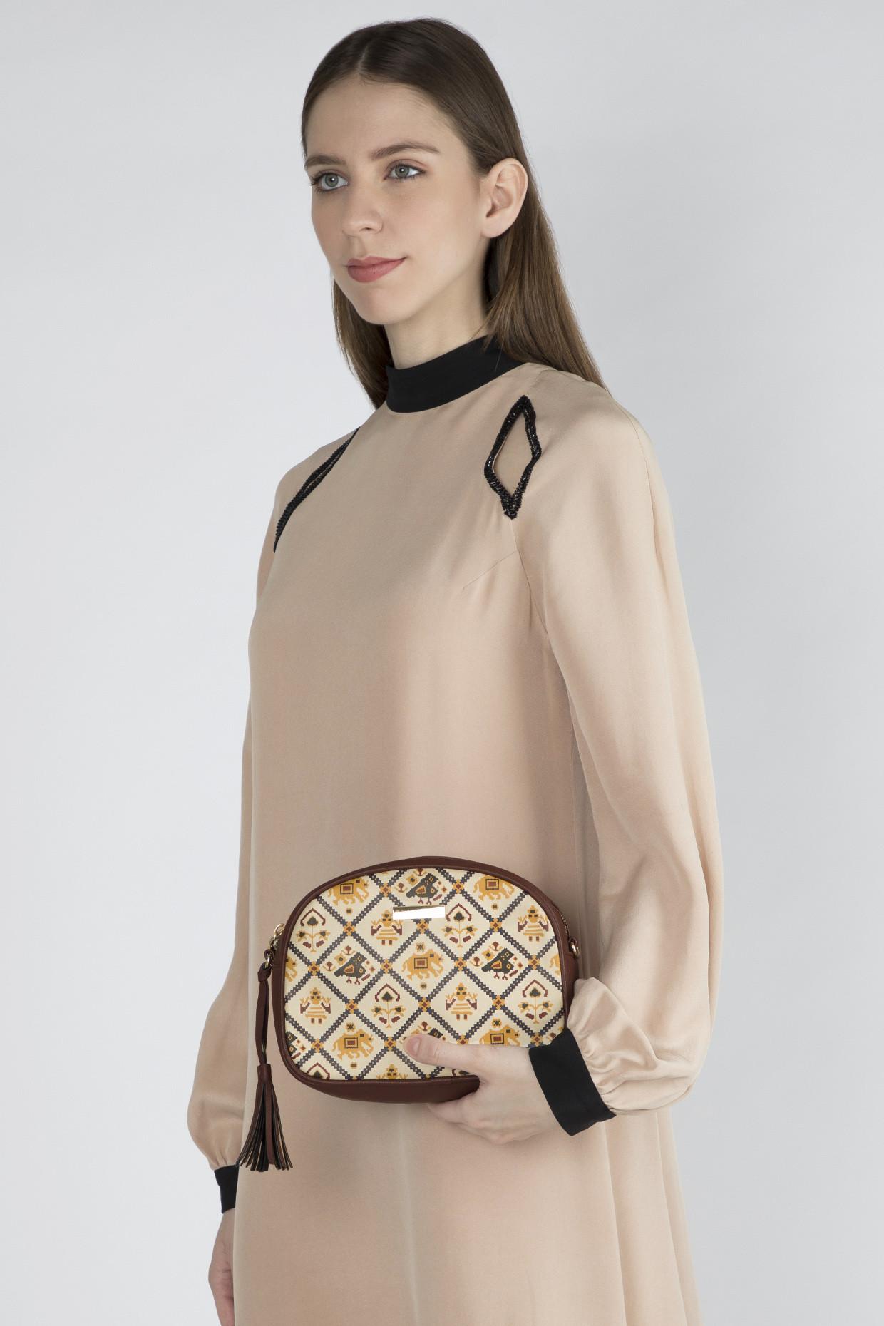 Maroon Printed Sling Bag by Imars