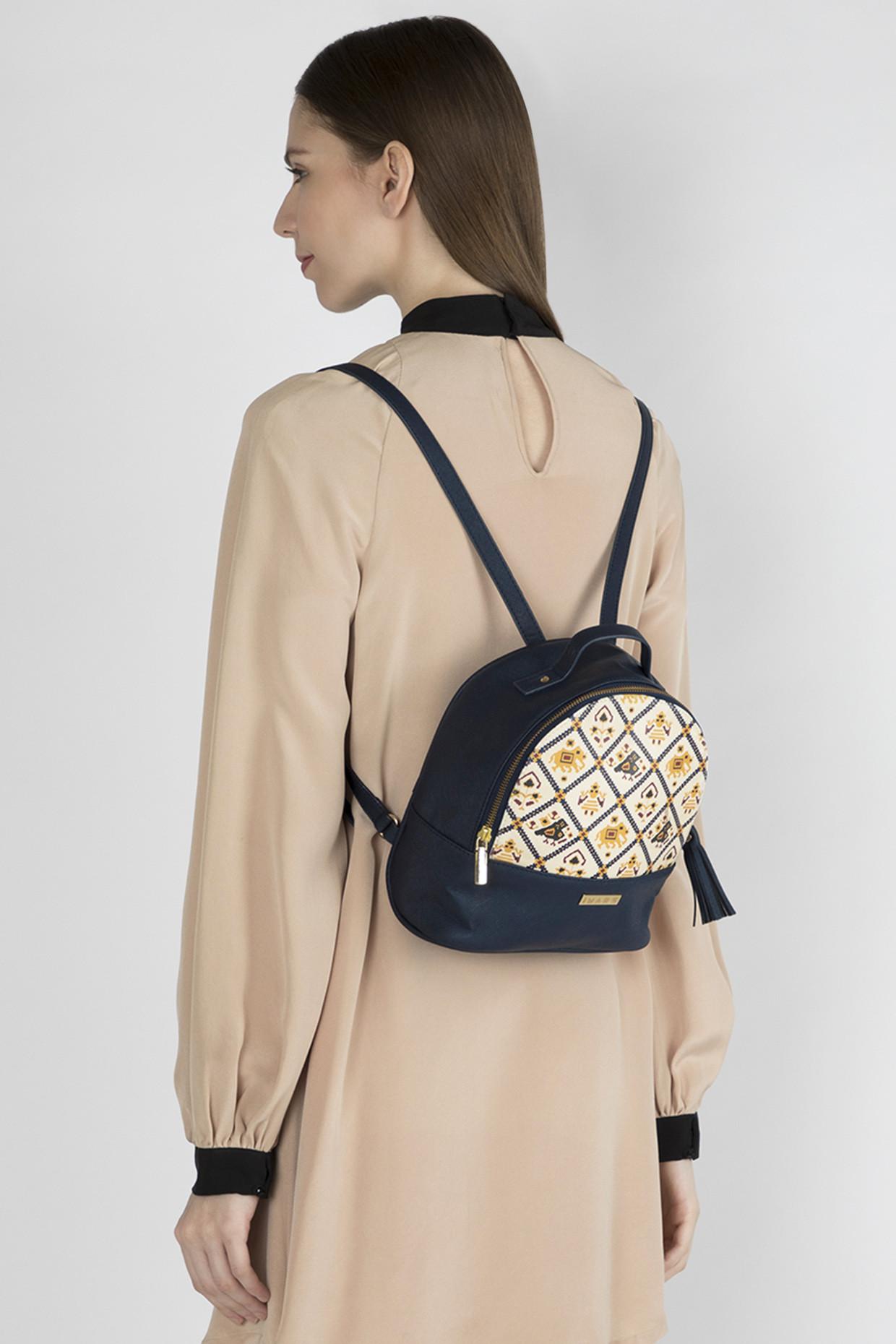 Blue Multi Functional Backpack by Imars