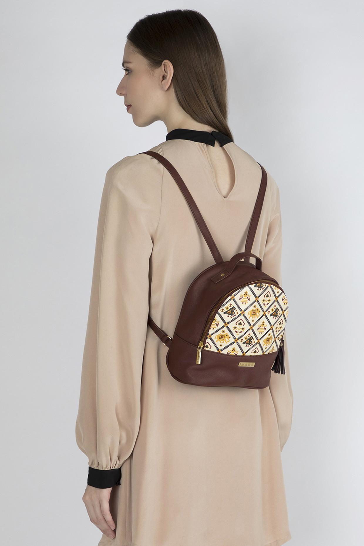 Maroon Multi Functional Backpack by Imars
