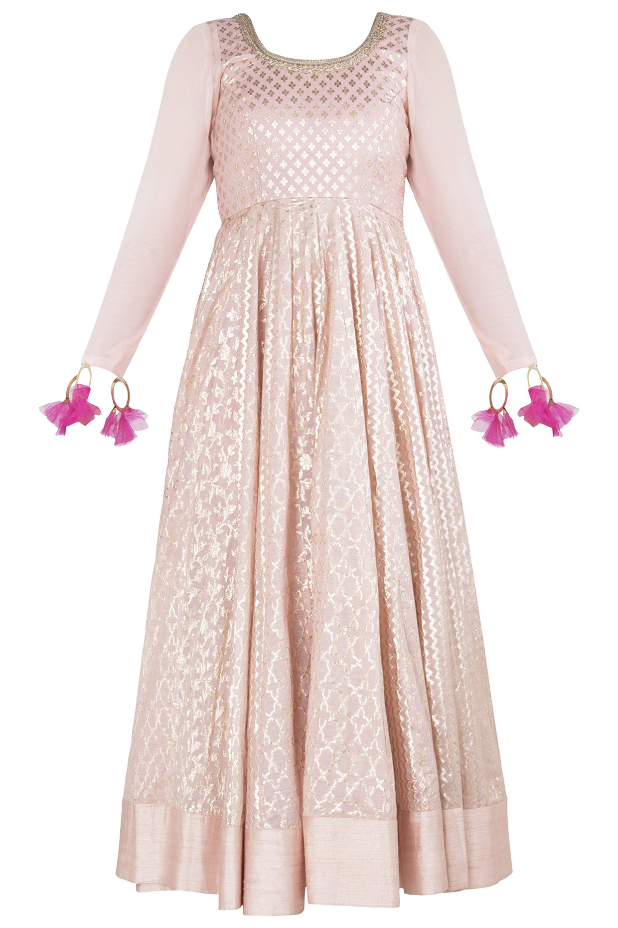 Pink Embroidered Anarkali by Rishi & Vibhuti