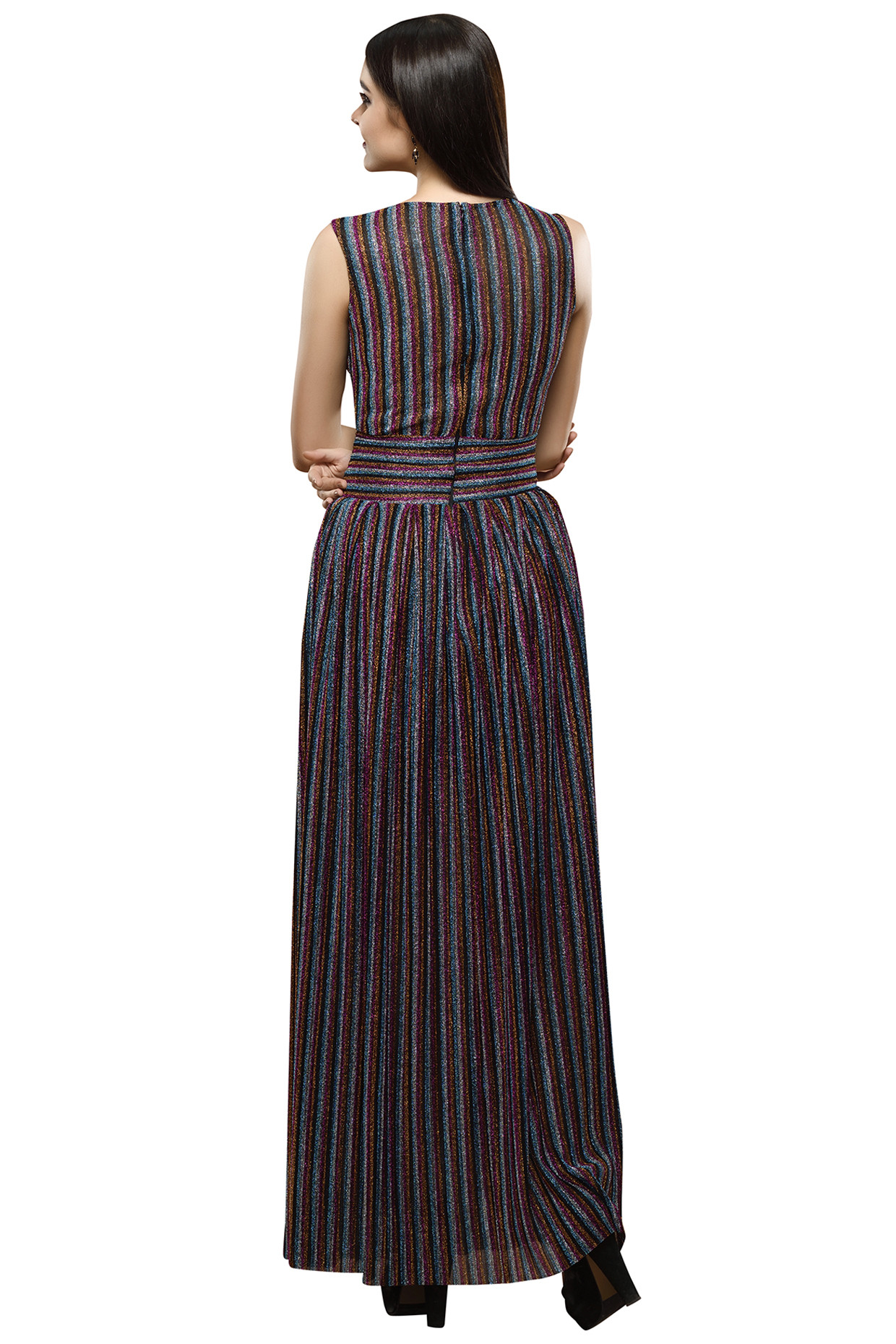 Multicolored Striped Maxi Dress by RS by Rippi Sethi