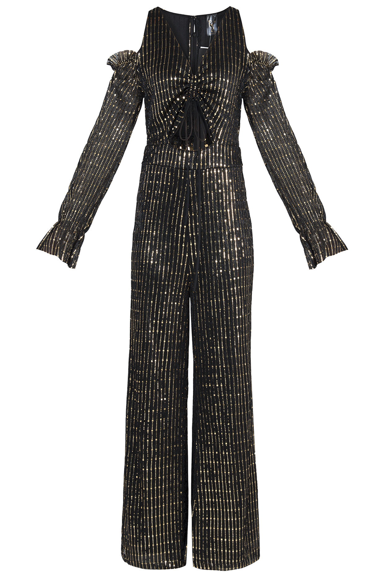 Black Metallic Jumpsuit by RS by Rippi Sethi