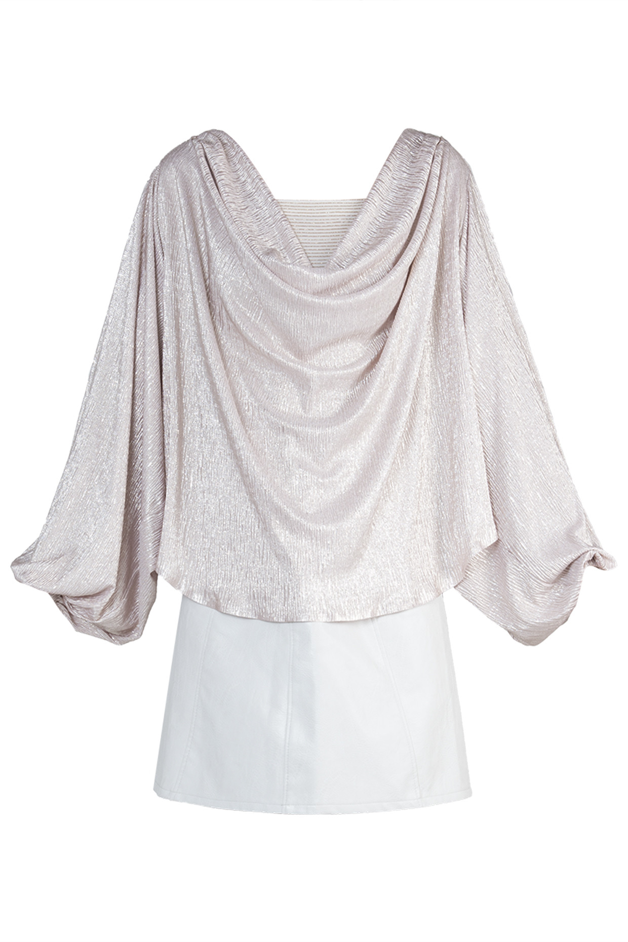 Light Pink Metallic Top by RS by Rippi Sethi