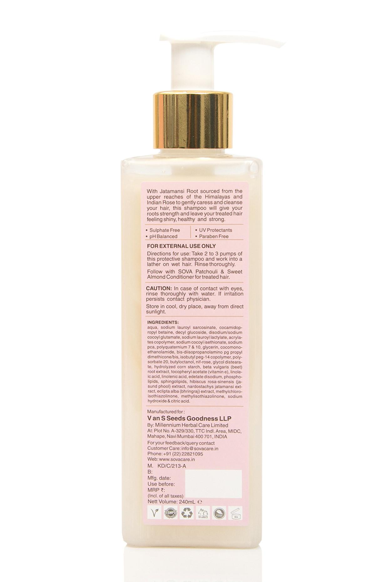 Indian Rose & Jatamansi Root Shampoo For Treated Hair by SOVA